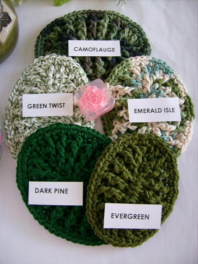 Custom Crochet Original Soap Dish, TWO Soap Dish Order  in GREENS