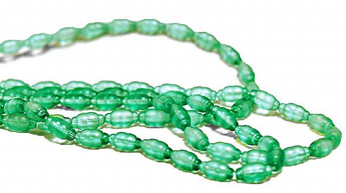 Double Mint- vintage glass beads