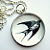 Vintage Swallow - A Little Bubble Pendant