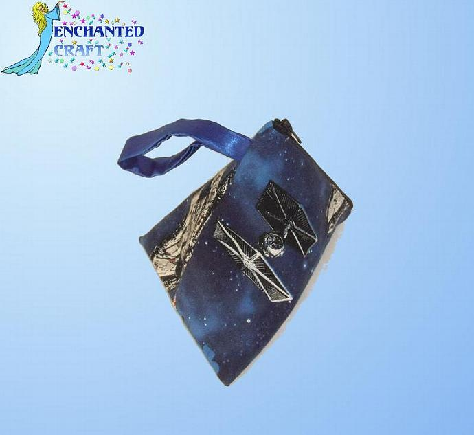 Star Wars Ships Zippered bag- small wristlet or dice bag
