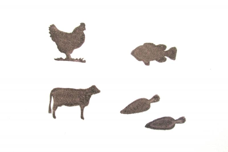 Meal Ticket Options Rubber Stamps Set