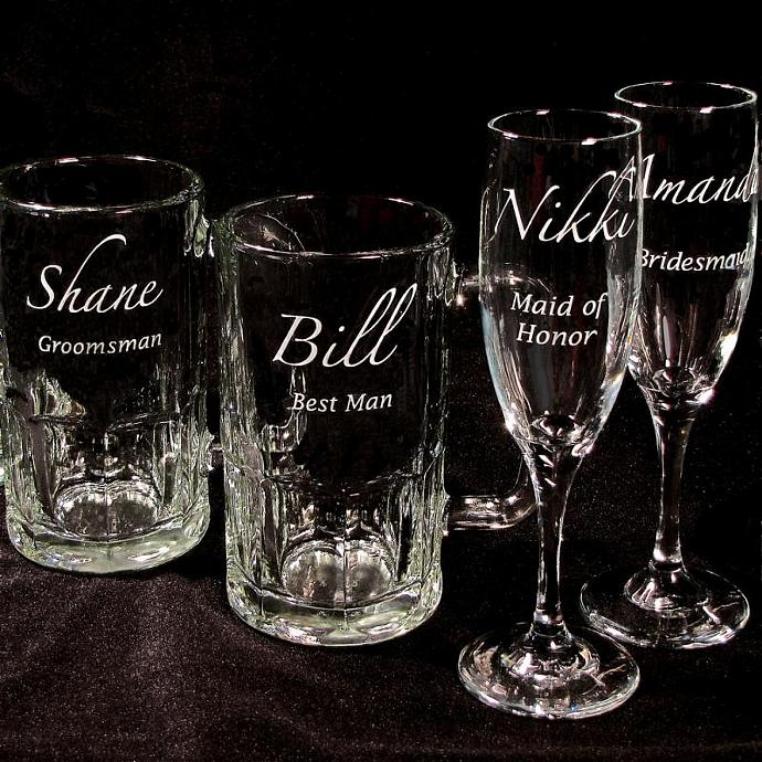 4 Wedding Party Gifts Personalized Beer Bradgoodell