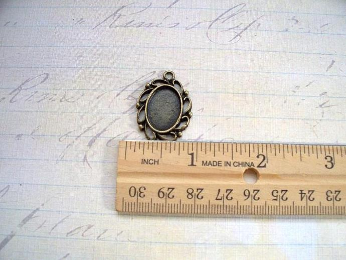 Cameo/Cabochon Setting Antique Brass (CSBR-01)
