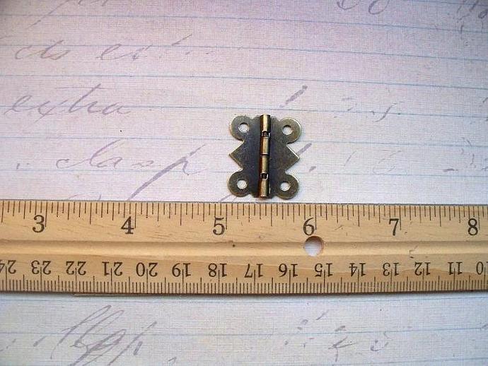 4pcs. Antique Bronze Hinges 20X24mm (HB-01)