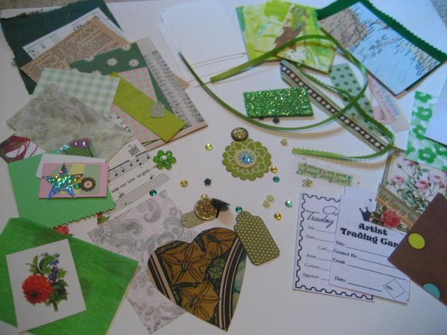Collage ATC (artist trading card) Kit Mixed Media -Epherema Art