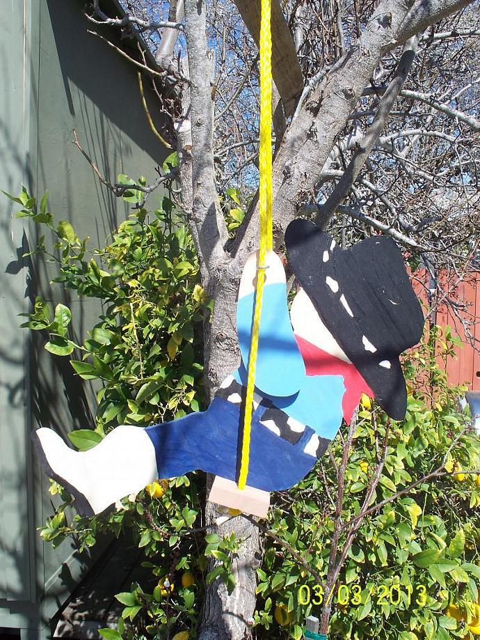the cowboy yard swing