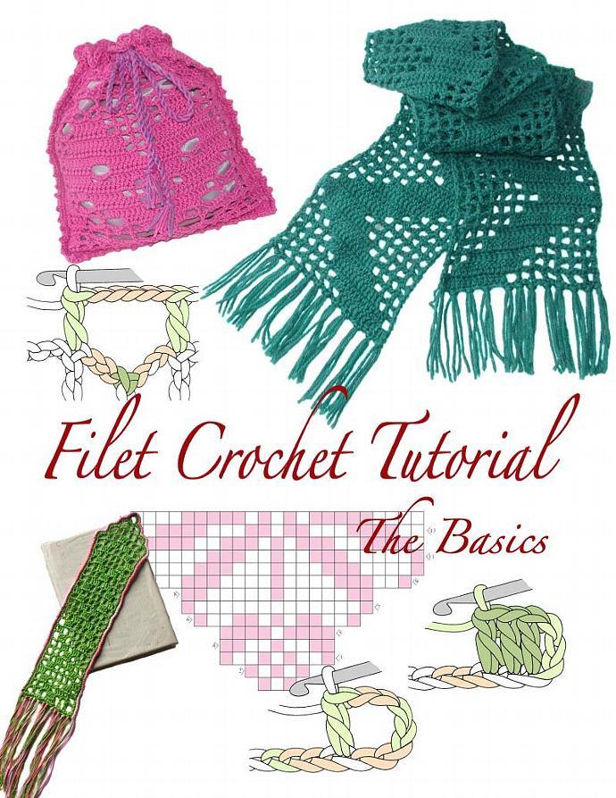 Filet Crochet PDF Tutorial - Instant download