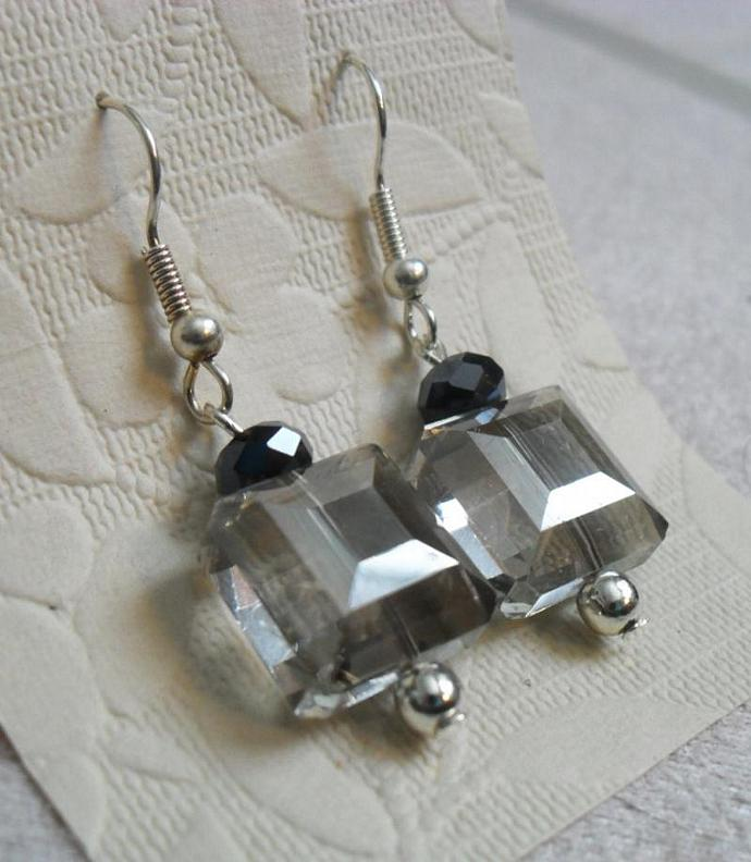 Square Prism Earrings - Short