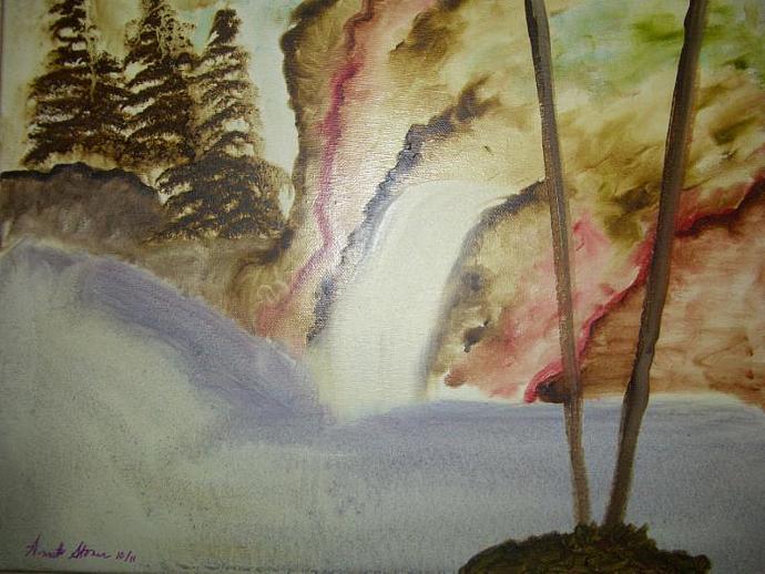"Original Oil Painting Giclee Print ""Rock Falls"" 8 x 10"