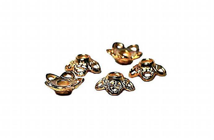 Golden Stars- pewter beadcaps