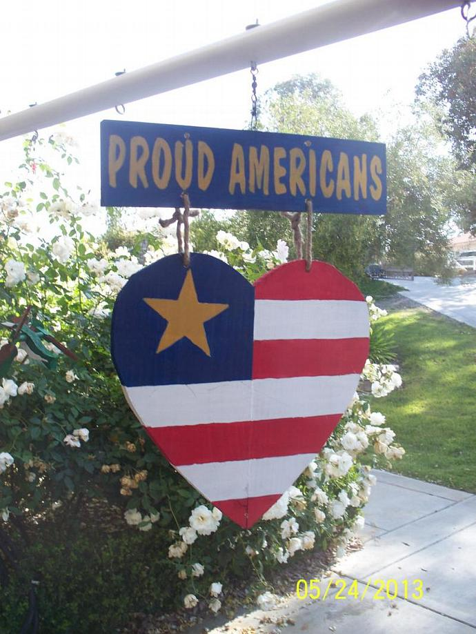 The Proud American Wall Hanger