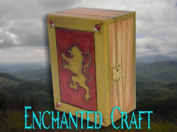 hand painted Lion of Narnia wood box- get your name on it for free