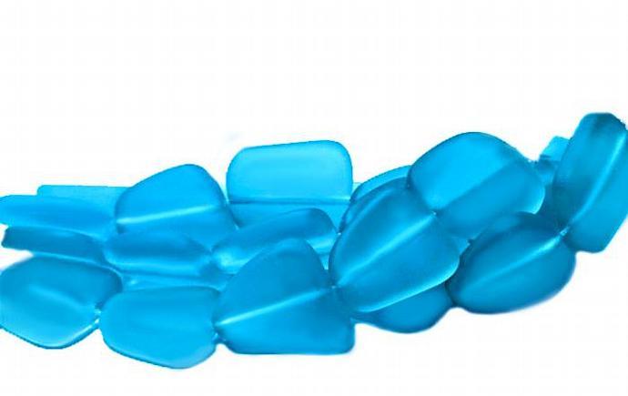 Blue Margarita- recycled sea glass beads