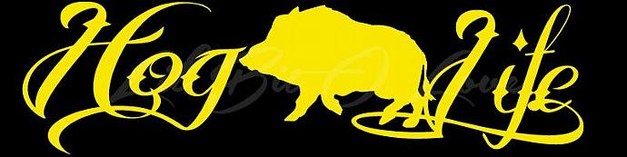 Hog Hunter Vinyl Decal Sticker Hunting Hogs Life Hog Life
