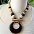 Large Wood Bead Tribal Necklace Statement Chunky Bold