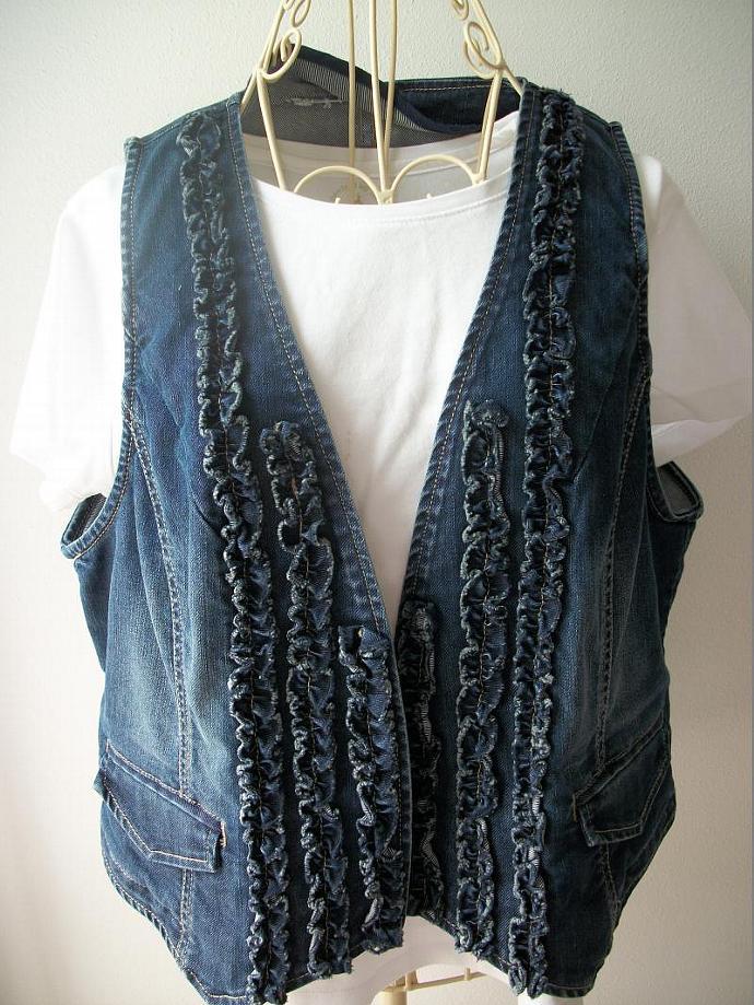 Embellished Denim Vest