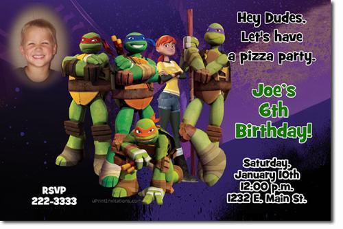 Teenage Mutant Ninja Turtles Birthday Invitations **DOWNLOAD JPG IMMEDIATELY**
