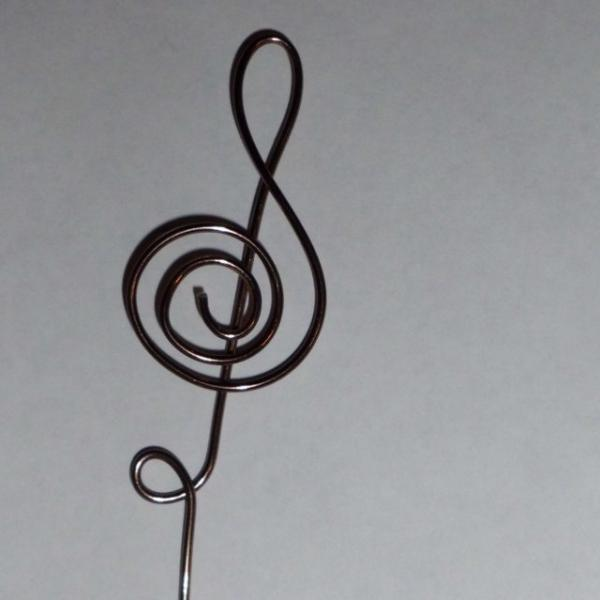 Wire Treble Clef swirls Picks wedding place card photo table number holders 20