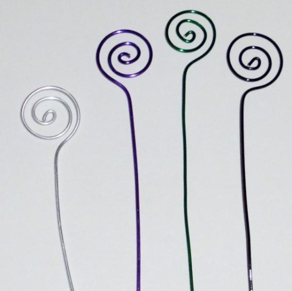 10 Aluminum Wire Swirls Table Card Holders for Weddings 3, 4, 5 or 6 inch tall