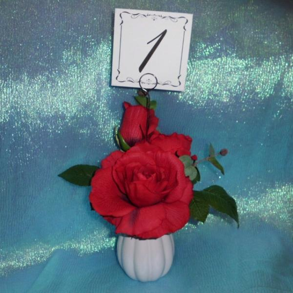 Purple Swirl Card Holder with Table Number Place Card sewt of 24
