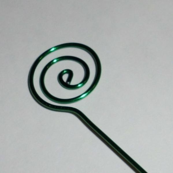 Green Wire Swirl Card Holders and Table Number Place Cards set of 24