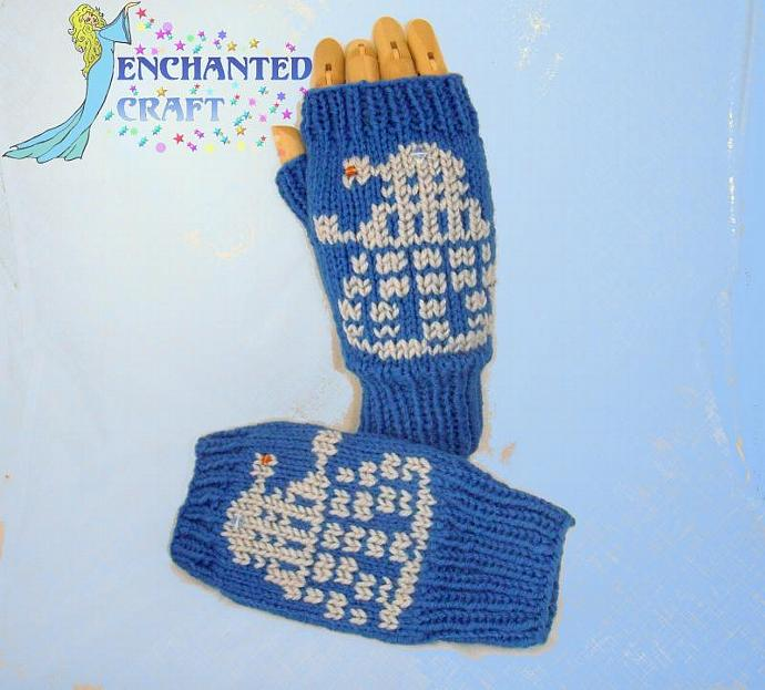 EXTERMINATE! Dr Who? Fingerless Gloves DAlek invasion