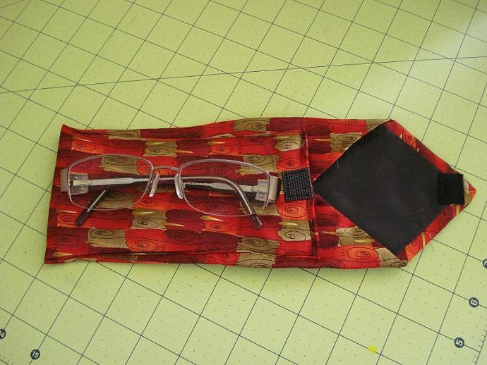 Re-purposed Tie Eyeglass Case