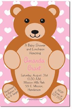 Teddy Bear Baby Shower Invitations  (Download JPG Immediately)