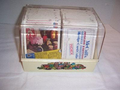 Huge Set of McCall's Recipe Cards in Storage Case