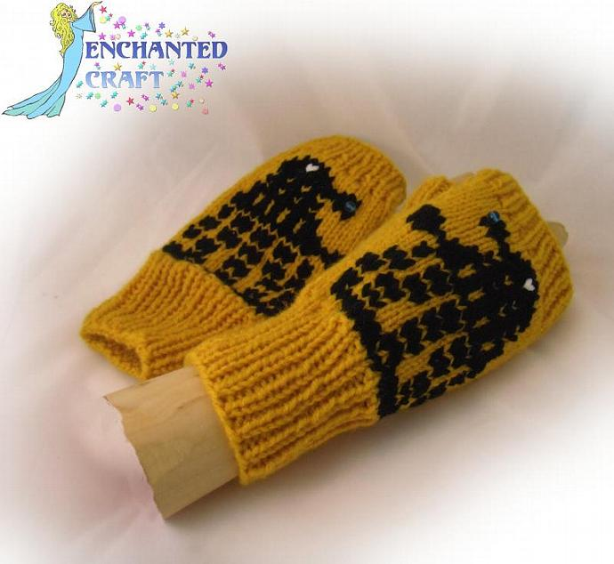 EXTERMINATE! Dr Who? Fingerless Gloves GOLD Dalek invasion