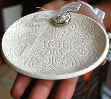 wedding ring dish wedding ring platehand built porcelain - Wedding Ring Dish