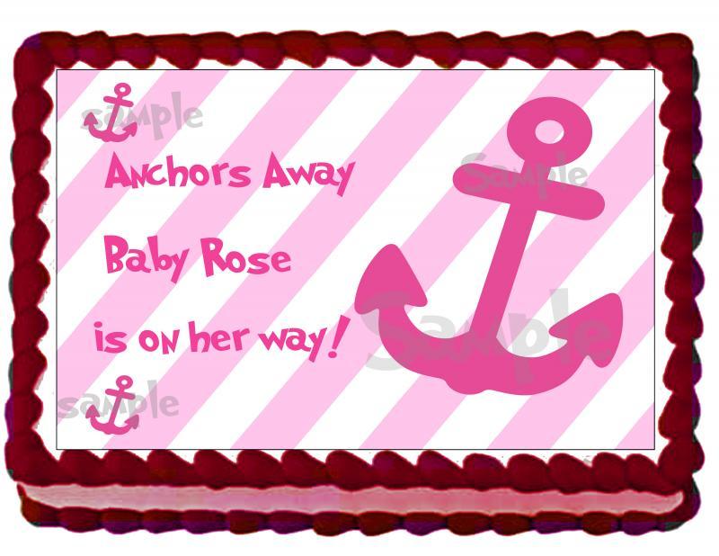 Nautical Girl Baby Shower Cake by EyeCandeyCreativeDesigns on Zibbet