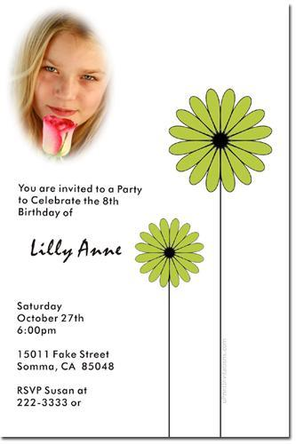 Daisy Birthday Party Invitations (Download JPG Immediately)