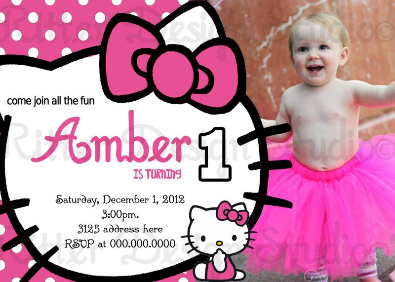 Hello kitty birthday invitation by ritterdesignstudio on zibbet filmwisefo