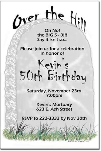 Over the Hill Birthday Party Invitations (Download JPG Immediately)