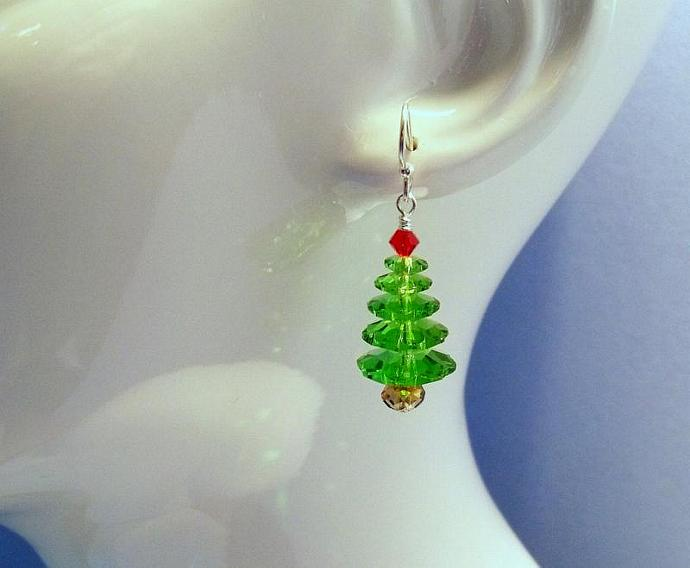 "Earrings - ""Christmas Tree"""