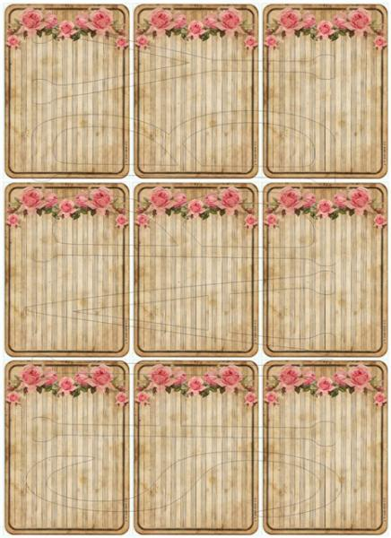 Shabby Chic Digital Collage sheet for scrapbook and cards Pocket Letters DC739