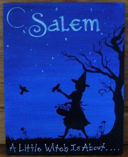 OOAK Witch painting Witches Garden Sign Herbs Witchcraft Fairies Cats Plaques