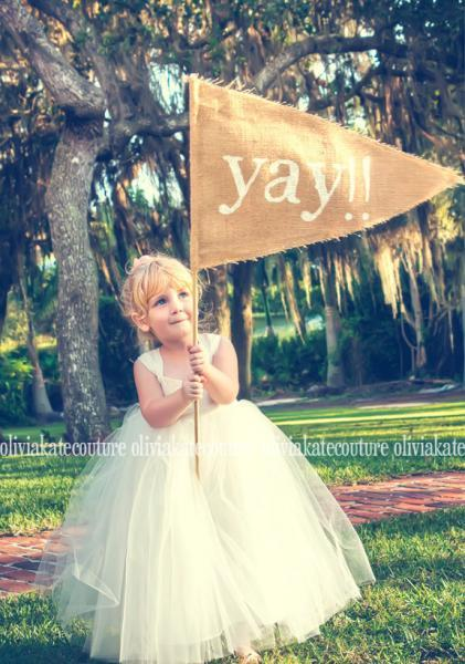 Flower Girl Dress Ivory Cotton