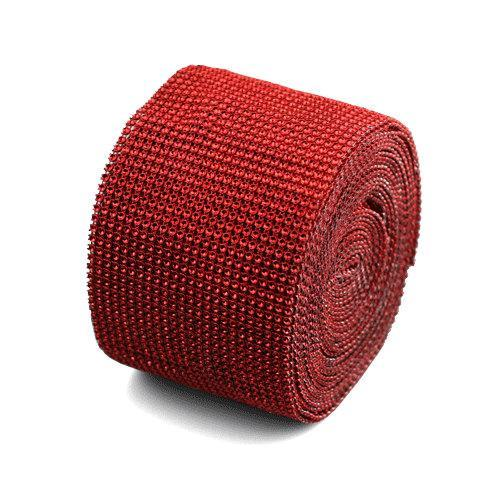 red Mesh Bling 1 yard
