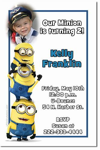 Despicable Me Birthday Invitations (Download JPG Immediately)