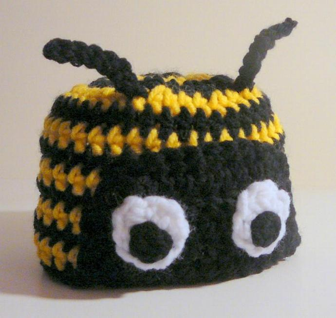 Bumble Bee Hat Pdf Crochet Pattern Newborn To By Hgsdesigns On