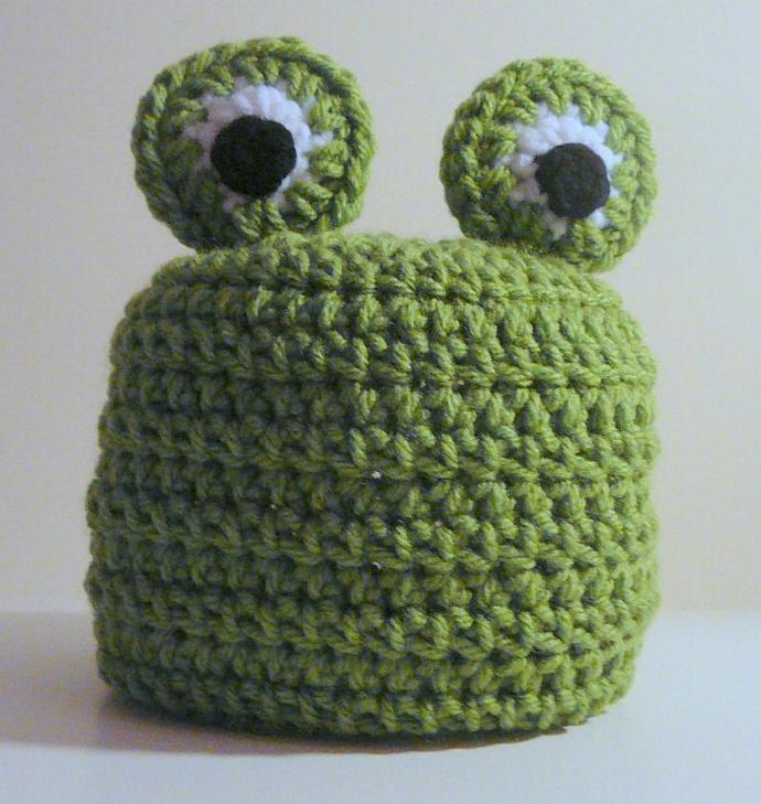 Frog Hat Pdf Crochet Pattern Newborn To Adult By Hgsdesigns On