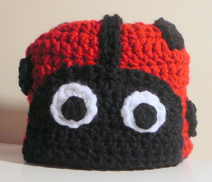 Ladybug Hat Pdf Crochet Pattern Newborn To By Hgsdesigns On Zibbet