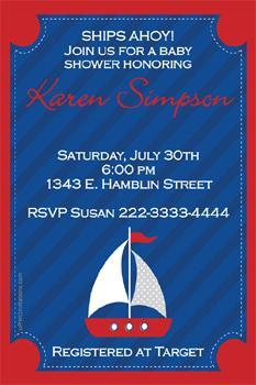 Nautical Baby Shower Invitations  (Download JPG Immediately)