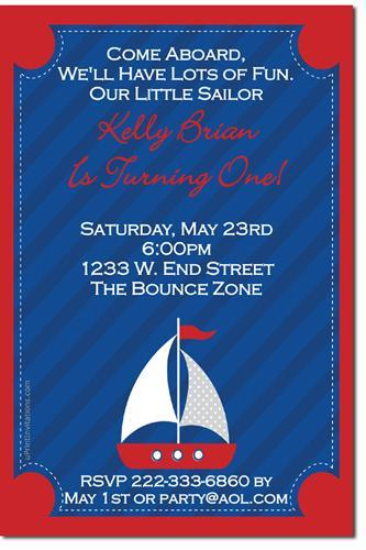 Nautical Birthday Party Invitations (Download JPG Immediately)