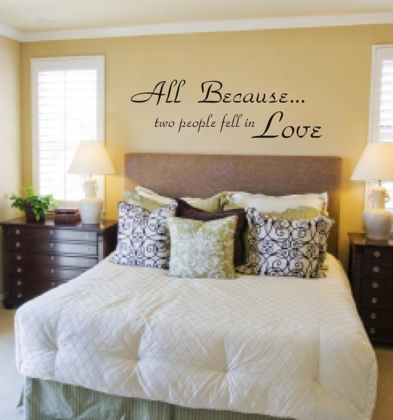 All Because Two People Fell In Love Decal by dabbledown on Zibbet