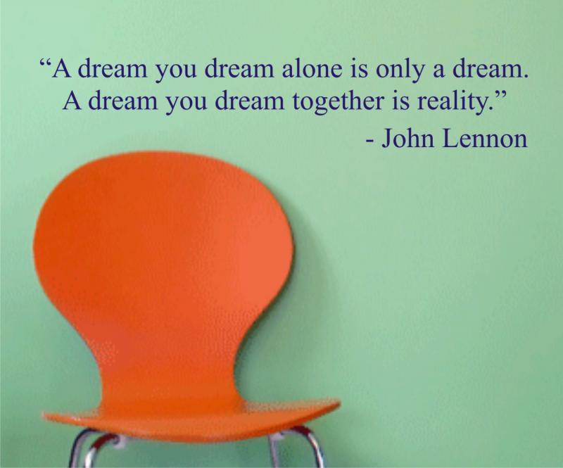 A Dream You Dream John Lennon Quote Decal Dabbledown