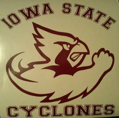 IOWA STATE CYCLONES Window/ CORNHOLE DECALS