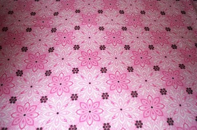 "100% cotton flannel blanket, approx. 40"" x 42"".  Pink, white, burgandy.  Crib"